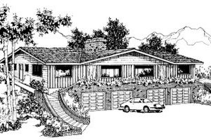 Traditional Exterior - Front Elevation Plan #303-240