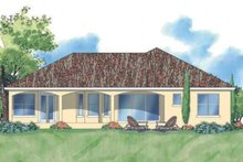 Mediterranean Exterior - Rear Elevation Plan #930-373
