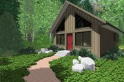 Cottage Style House Plan - 2 Beds 1 Baths 796 Sq/Ft Plan #126-140 Exterior - Front Elevation