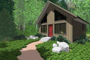 Cottage Exterior - Front Elevation Plan #126-140