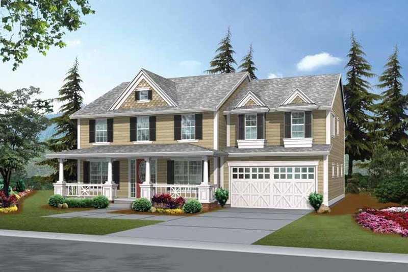 Craftsman Exterior - Front Elevation Plan #132-424