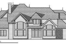 House Design - European Exterior - Rear Elevation Plan #70-730