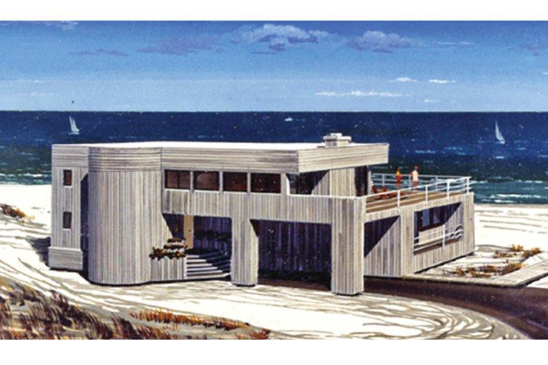 House Plan Design - Contemporary Exterior - Front Elevation Plan #314-280