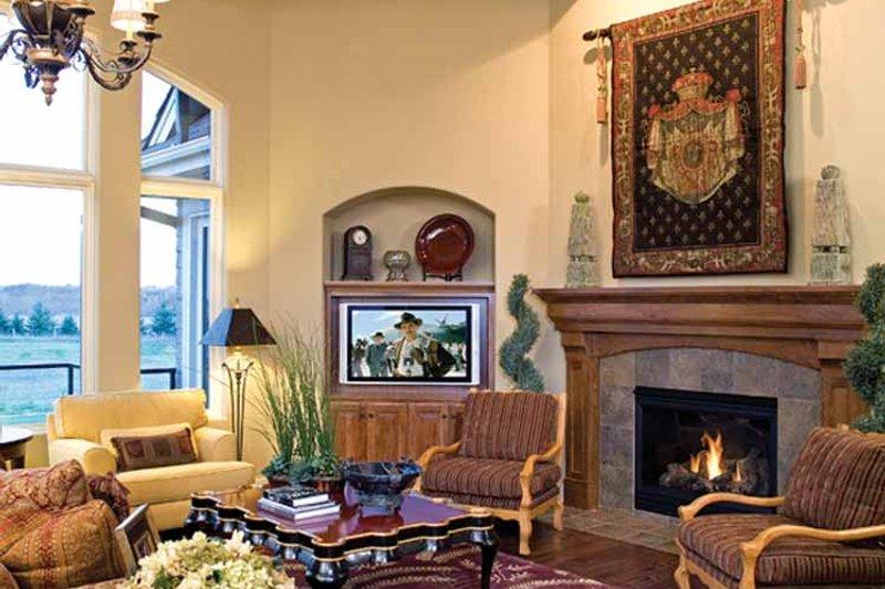 European Interior - Family Room Plan #51-1125 - Houseplans.com