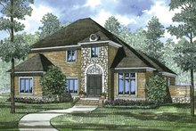 Colonial Exterior - Front Elevation Plan #17-3271