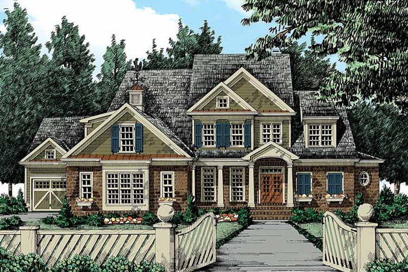 Traditional Exterior - Front Elevation Plan #927-346 - Houseplans.com