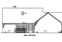 Southern Exterior - Rear Elevation Plan #45-134