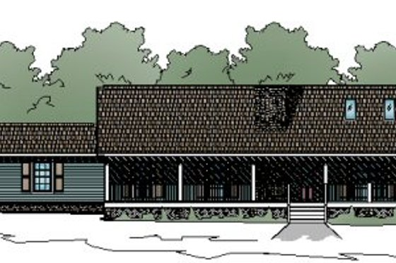 Ranch Exterior - Front Elevation Plan #123-106