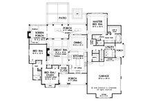 Farmhouse Floor Plan - Main Floor Plan Plan #929-1077