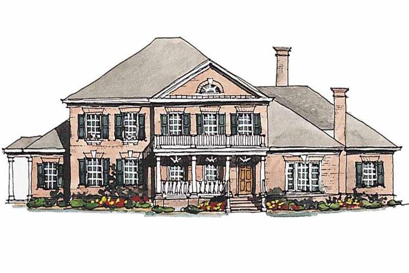 Classical Exterior - Front Elevation Plan #429-189 - Houseplans.com