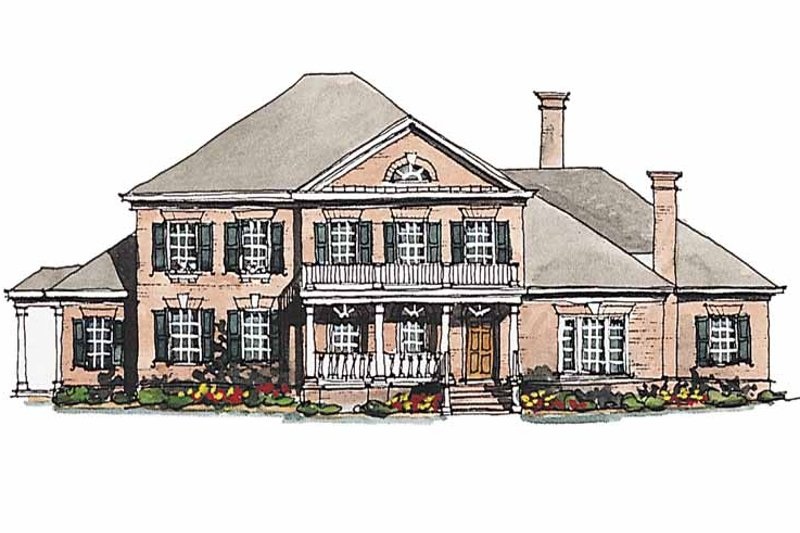 Classical Exterior - Front Elevation Plan #429-189