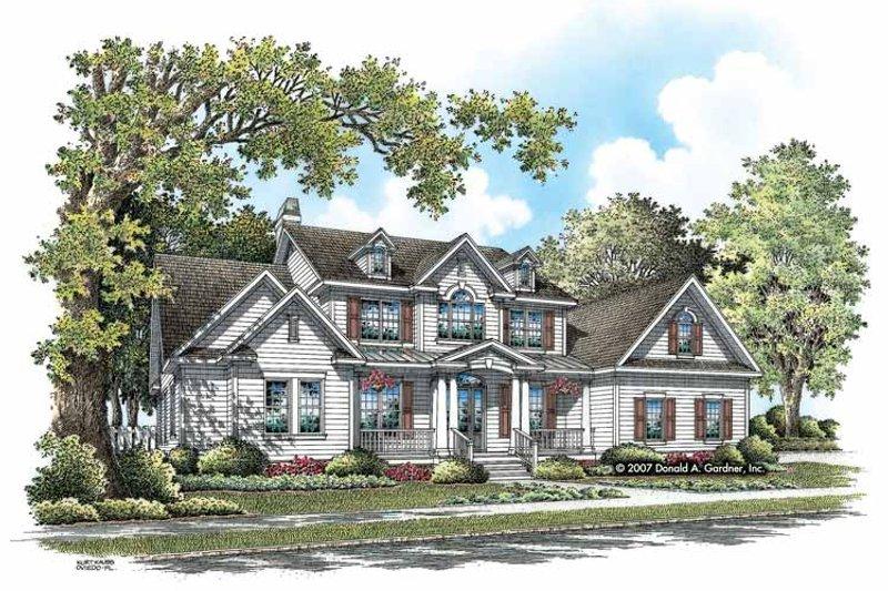 Craftsman Exterior - Front Elevation Plan #929-831