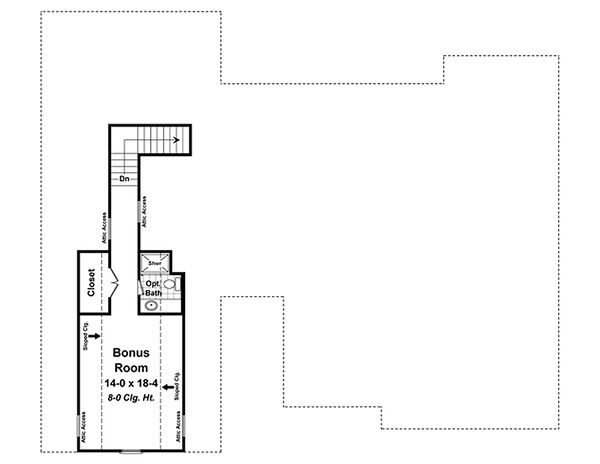 Craftsman Floor Plan - Other Floor Plan Plan #21-330