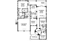 Mediterranean Floor Plan - Main Floor Plan Plan #1058-8