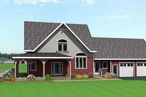 Country Exterior - Front Elevation Plan #75-104