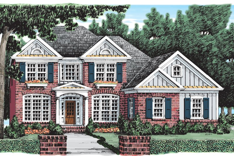 Colonial Exterior - Front Elevation Plan #927-779