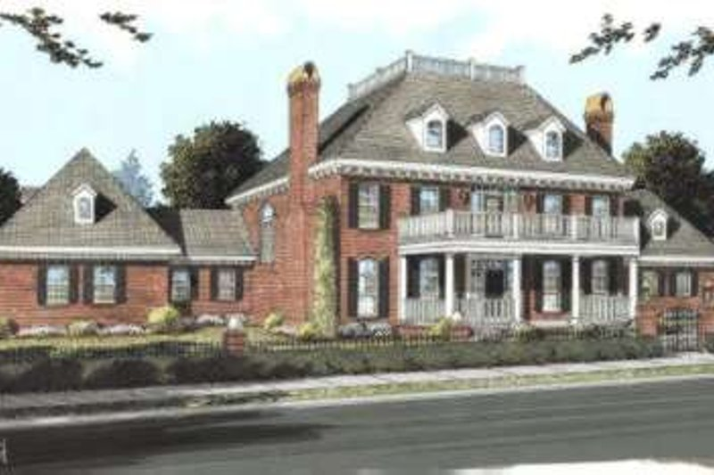 Colonial Exterior - Front Elevation Plan #20-1683