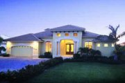 Mediterranean Style House Plan - 3 Beds 3 Baths 2518 Sq/Ft Plan #115-102 Exterior - Front Elevation