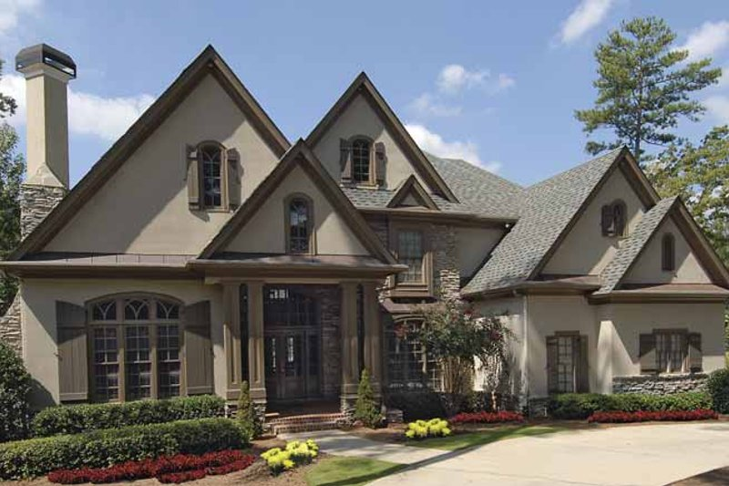 Dream House Plan - Traditional Exterior - Front Elevation Plan #54-314