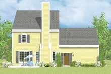 Colonial Exterior - Rear Elevation Plan #72-1104