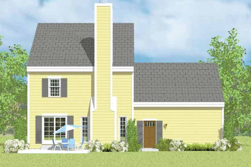 Colonial Exterior - Rear Elevation Plan #72-1104 - Houseplans.com