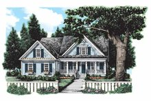 Country Exterior - Front Elevation Plan #927-127