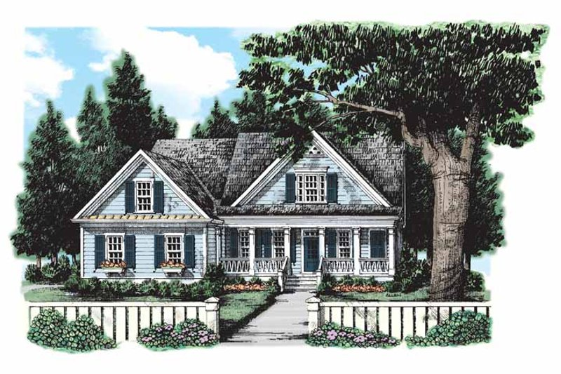 Home Plan - Country Exterior - Front Elevation Plan #927-127