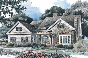 House Plan Design - Country Exterior - Front Elevation Plan #429-95
