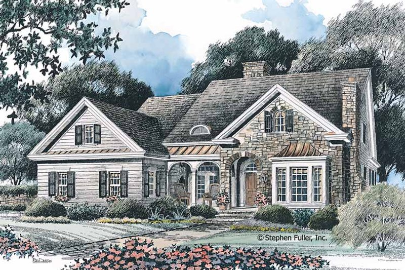 Country Exterior - Front Elevation Plan #429-95