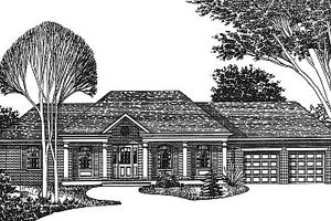 Traditional Exterior - Front Elevation Plan #12-103