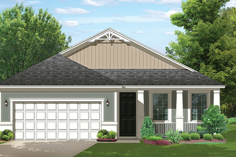 Ranch Exterior - Front Elevation Plan #1058-106 - Houseplans.com