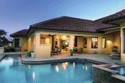 Mediterranean Style House Plan - 4 Beds 3.5 Baths 3271 Sq/Ft Plan #930-58 Exterior - Rear Elevation