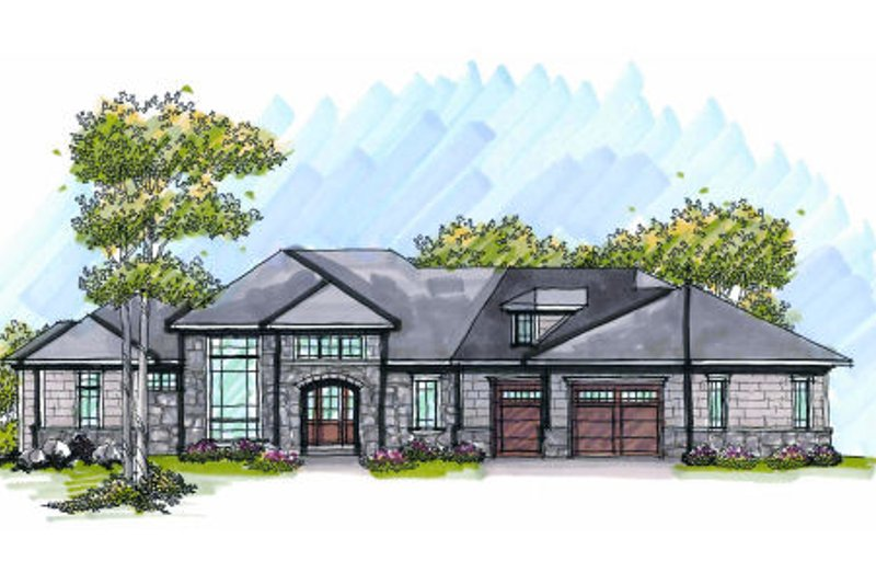 Dream House Plan - European Exterior - Front Elevation Plan #70-1009