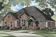 Ranch Exterior - Front Elevation Plan #17-3211