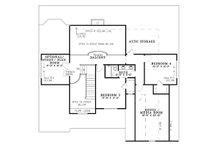 Craftsman Floor Plan - Upper Floor Plan Plan #17-1167
