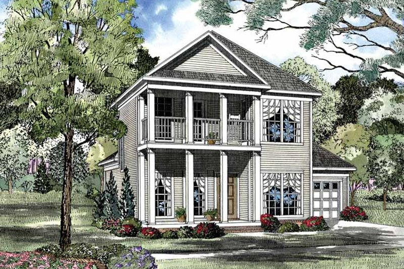 Classical Exterior - Front Elevation Plan #17-3052