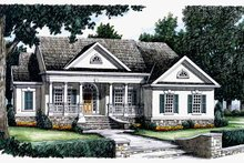 Classical Exterior - Front Elevation Plan #927-58