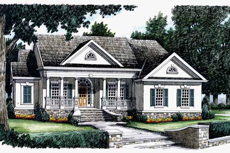 House Plan Design - Classical Exterior - Front Elevation Plan #927-58