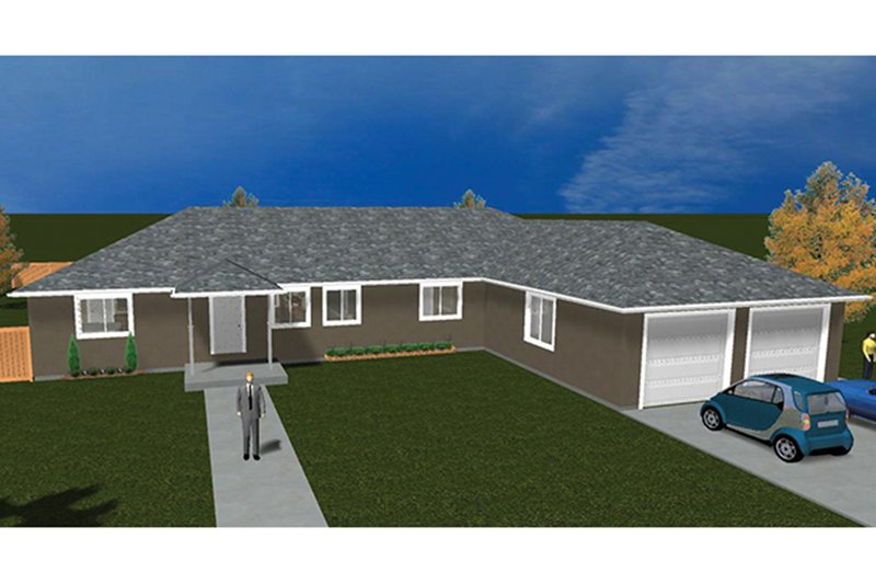 Ranch Exterior - Front Elevation Plan #1060-31