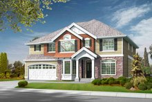 Dream House Plan - Craftsman Exterior - Front Elevation Plan #132-376