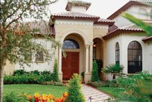 House Plan Design - Mediterranean Exterior - Front Elevation Plan #417-527