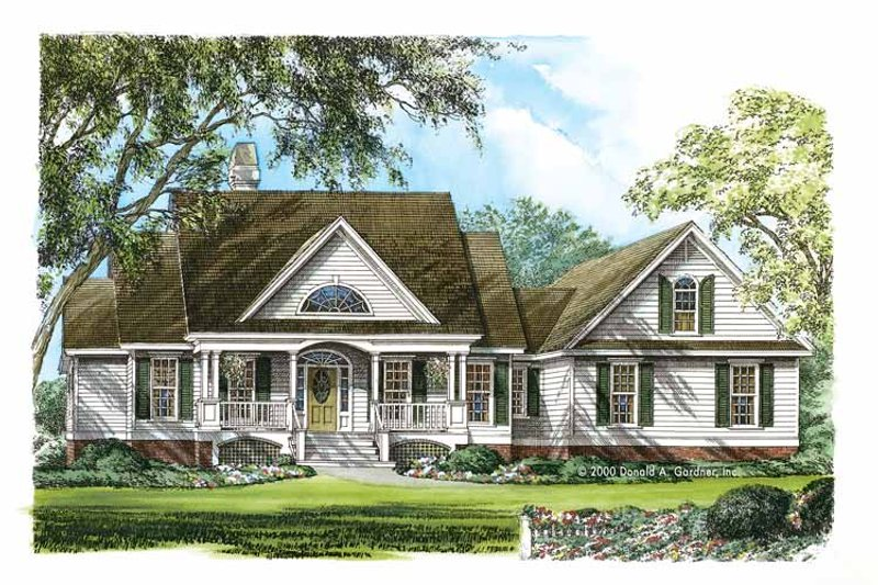 Dream House Plan - Country Exterior - Front Elevation Plan #929-753