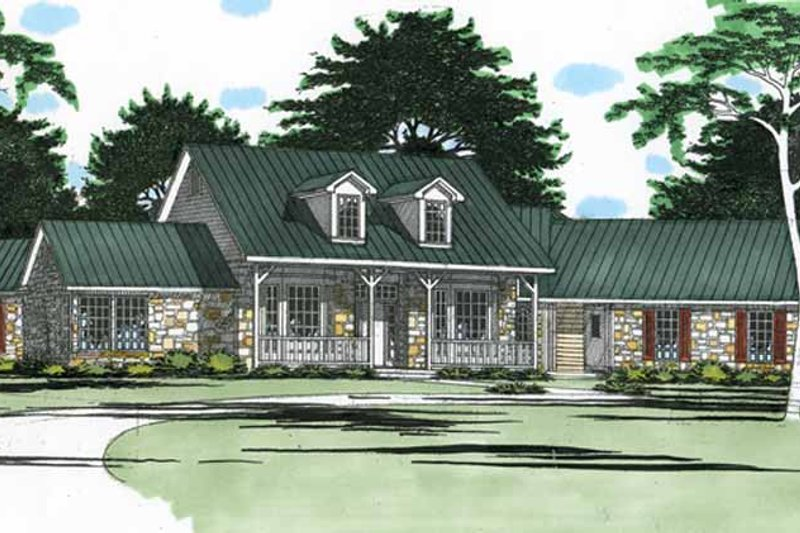 Country Exterior - Front Elevation Plan #472-257 - Houseplans.com