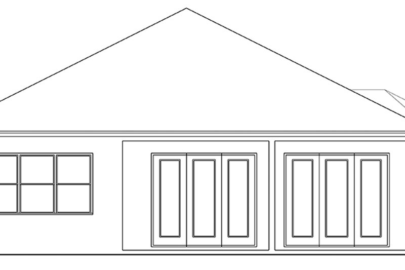 Ranch Exterior - Rear Elevation Plan #1058-111 - Houseplans.com
