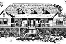 Home Plan Design - Traditional Exterior - Front Elevation Plan #14-113