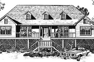 Architectural House Design - Traditional Exterior - Front Elevation Plan #14-113