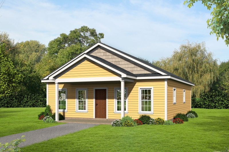 Traditional Style House Plan - 2 Beds 2 Baths 1050 Sq/Ft Plan #932-108 Exterior - Front Elevation