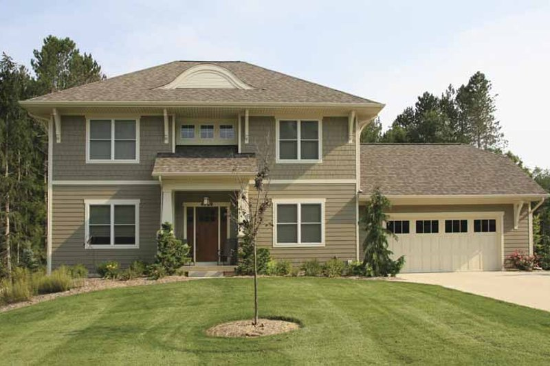 Country Style House Plan - 3 Beds 2.5 Baths 2130 Sq/Ft Plan #928-158 Exterior - Front Elevation