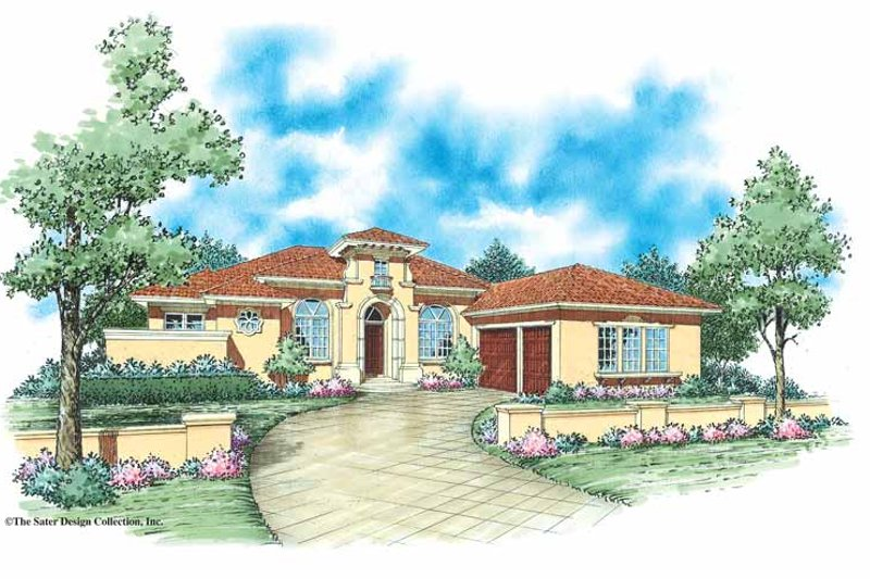 Mediterranean Exterior - Front Elevation Plan #930-349