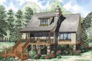 Cottage Exterior - Front Elevation Plan #17-2363